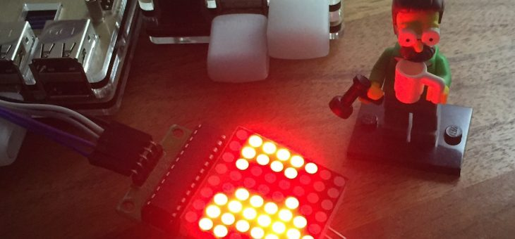 max7219 LED Array on Raspberry Pi!